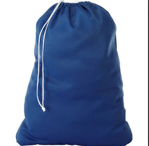 Navy Blue 30 Quot X40 Quot Nylon Laundry Bags White Ties Commercial