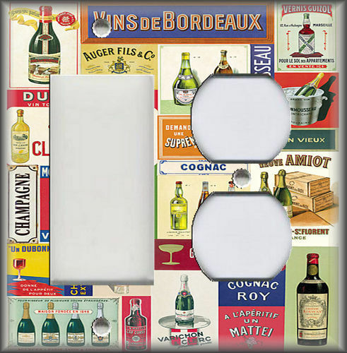 Metal Light Switch Plate Cover Vintage Wine And Spirits Kitchen Bar Decor Wine