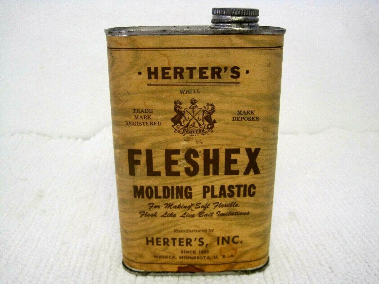 Vintage HERTERS Fleshex Molding  Plastic for Making Live Bait Imitations-Full  professional integrated online shopping mall