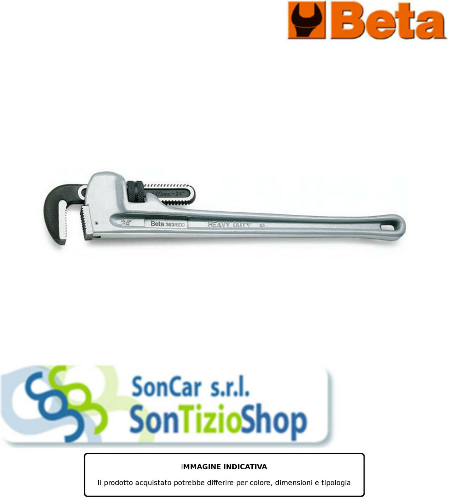 BETA 363 350 Artikel Original  Rohrzangen Amerikanisch Aluminium 350