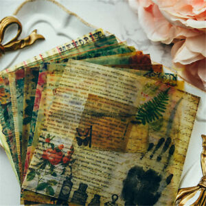 10x vintage vellum self-adhesive stickers for scrapbooking planner//card makin Hs
