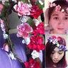 Bohemian Woman Floral Flower Hair Wreaths Cherry blossoms Headband Party Wedding