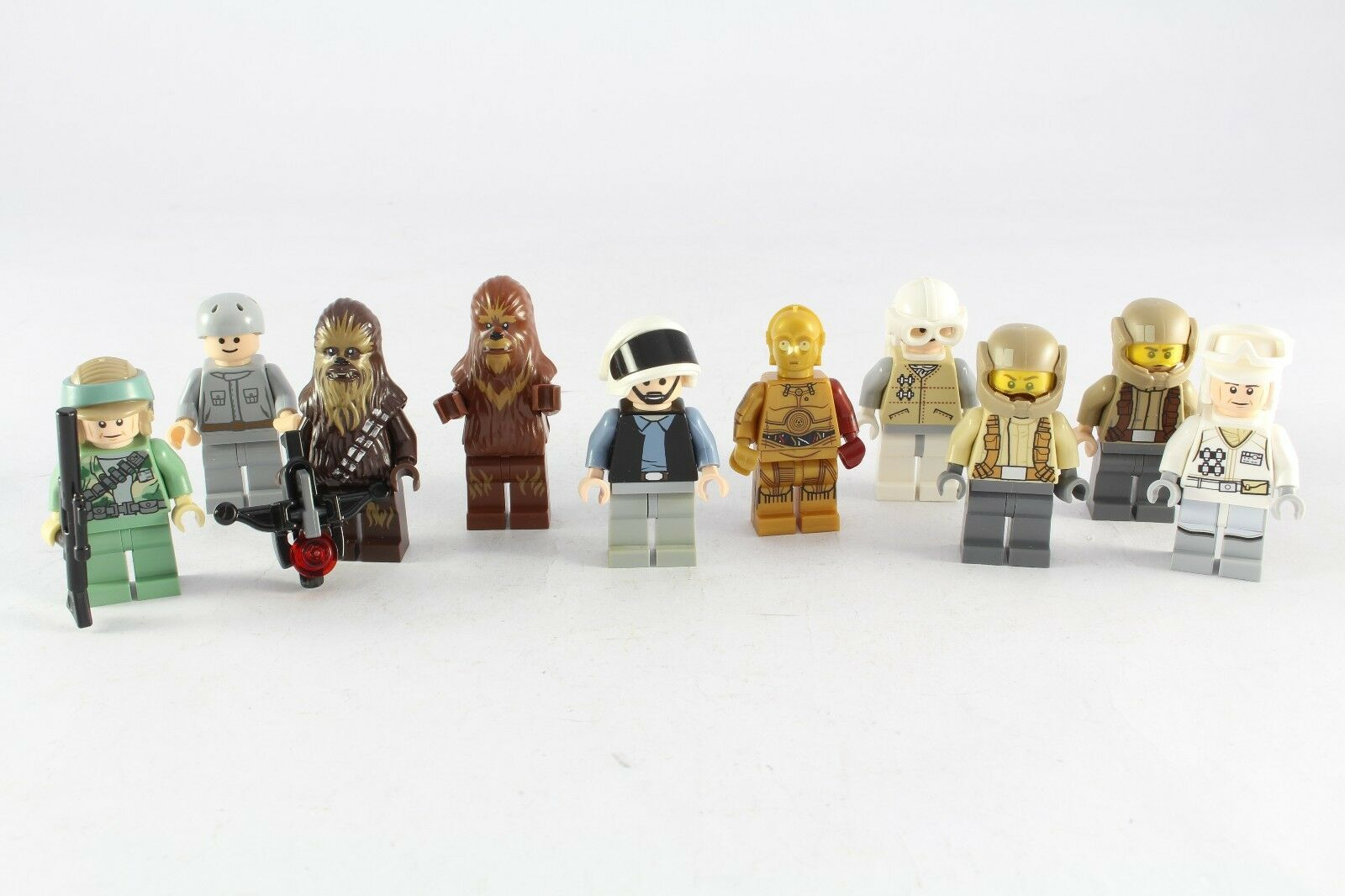 Lego Star Wars Original Minifig Chewbacca C3PO Rebel Trooper Army