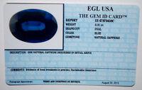 EGL USA CERTIFIED NATURAL SAPPHIRE BLUE OVAL CUT 0.31 CT GENUINE GEMSTONE