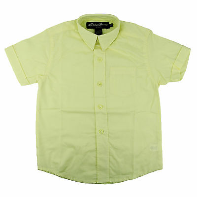 Brilliant Blue NEW Eddie Bauer Boys Short Sleeve Button Front Shirt Size 5