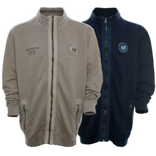 Shirt Baumwolle Jacke Herren Sweatjacke Übergröße Sweat Plusgröße Langarm Kitaro gwtTw