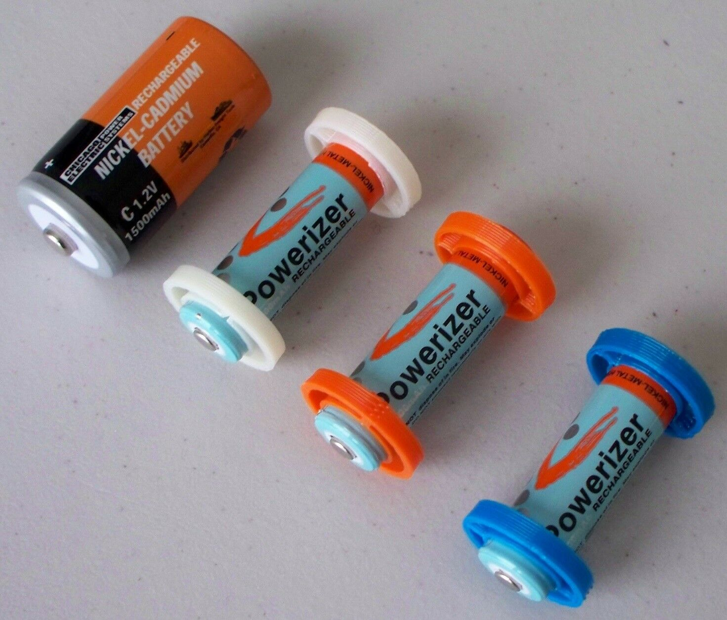 iSmartHome 3D Printed AA to Size C Battery Adapter 8pcs, Introductory Special