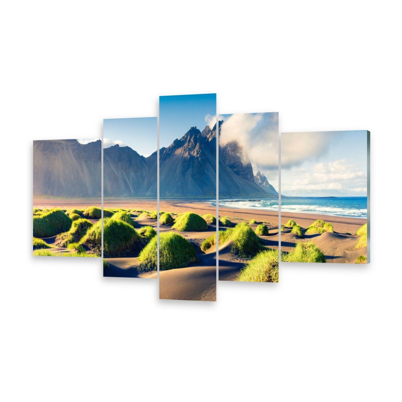 Mehrteilige Bilder Glasbilder Wandbild Dünen