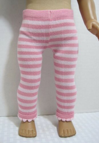 Doll Clothes Pink /& White Striped Leggings Fits 18 Inch American Girl AG