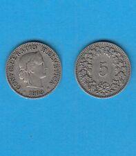Suisse Helvétia Switzerland 5 Rappen Cuivre-Nickel 1903 Exemplaire N° 2