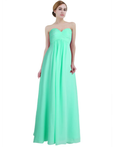 Women Chiffon Bridesmaid Dress Long Fromal Evening Prom Gown Party Cocktail 8-20