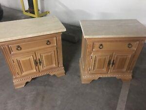 Century Furniture - 4 Piece Bedroom Set - White Limed Oak (Solid ...