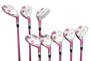 Petite-para-Mujer-Majek-Golf-Pink-Ladies-Juego-Hibrido-4-SW-Dama-Flex-Utilidad
