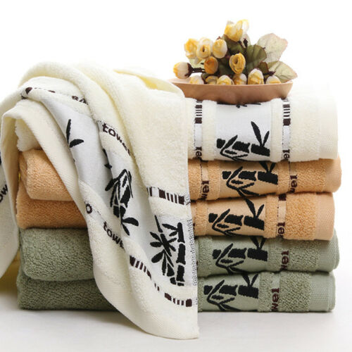 70x140cm Solid Bamboo Fiber Absorbent Drying Bath Beach Towel Washcloths Shower