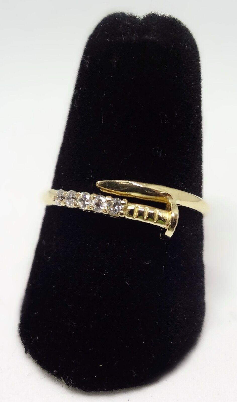 14K Yellow gold Nail Ring
