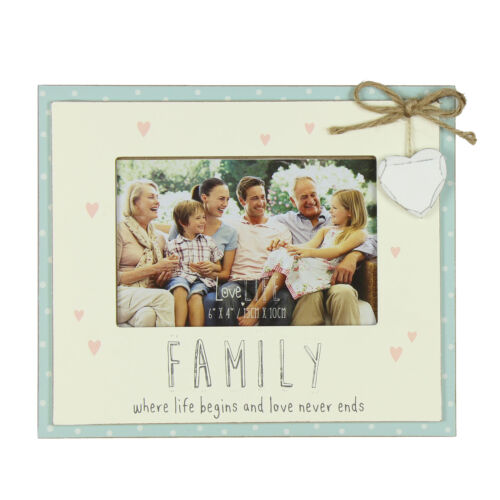 Vie Amoureuse MDF double couche 6/'x4/' Cadre Photo-Famille//La vie commence