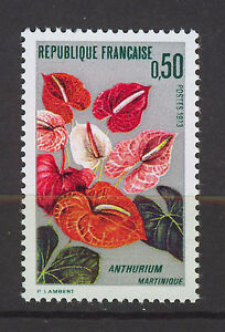 FRANCIA-FRANCE-1973-MNH-SC-1356-Anthurium-Martinique