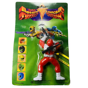 Super-Robotic-Rangers-Power-Wind-Up-Figure-Vtg-Ko-Bl-7-034-Res-1990-039-s-New-Crawling