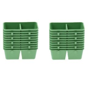 20Pcs Bird Parrot Feeding Cups Food Water Bowls Dish Cage for Animal Pigeons