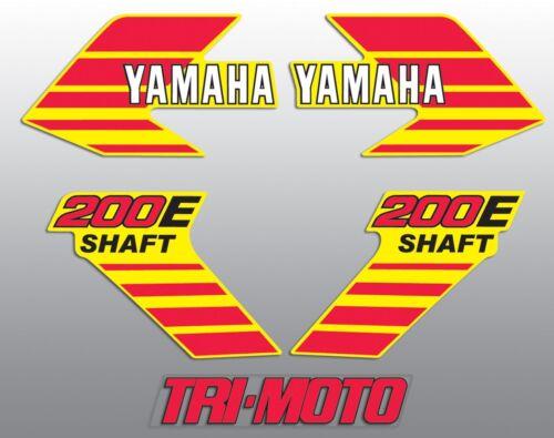 1984 YAMAHA YTM200EL YTM 200 TRI-MOTO THREE WHEELER DECAL KIT