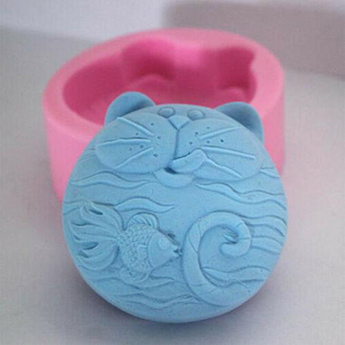 Cat Fish Silicone Soap Chocolate Candy Mold Craft Molds DIY Handmade Mold LIN
