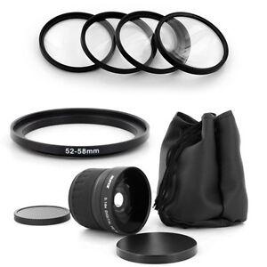 HD-52mm-Wide-Fish-Eye-0-18x-Lens-Macro-for-Nikon-D50-D60-D70-D100-18-55mm-camera