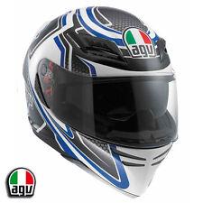 AGV Horizon Racer Blue Motorcycle Helmet Large 0101-6182