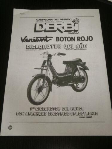 SPANISH DERBI VARIANT RABASA 1932 AD PUBLICITE ANUNCIO MOTORCYCLE MOTO
