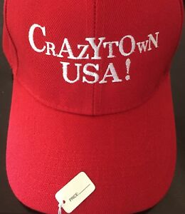 MAKE AMERICA GREAT AGAIN Trump CRAZYTOWN Inspired PARODY Embroidered HAT Cap