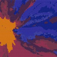 Abstract 25 6 X 6 Loomed Beading Pattern By Karen Zumbrun