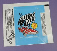 Autos of 1977 Gum Wrapper - Original 1970's Bubblegum Card Wrapper