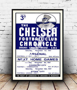 The-Chelsea-Chronicle-Old-football-poster-Wall-art-poster-reproduction