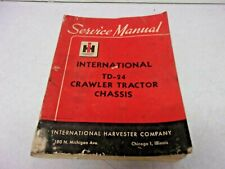 1958 International Harvester Ih Td 24 Crawler Tractor Chassis Service Manual