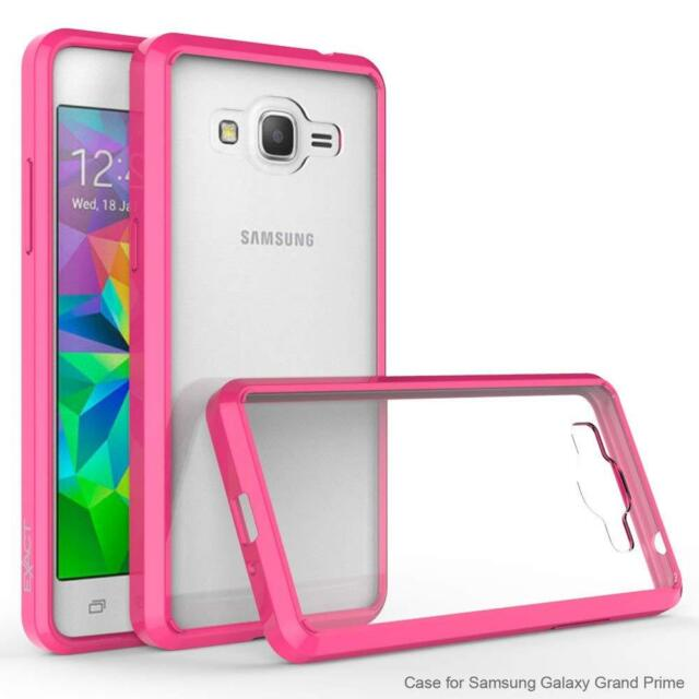 sports shoes d155e 74c18 Exact Case for Samsung Grand Prime Prism Protective TPU Grip Bumper Hot  Pink/cr