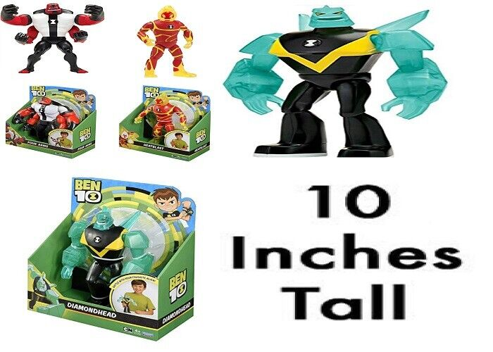 Ben 10 Giant Action Figure 10 Inch Four Arms Heatblast Diamondhead Ages 4+ Toy