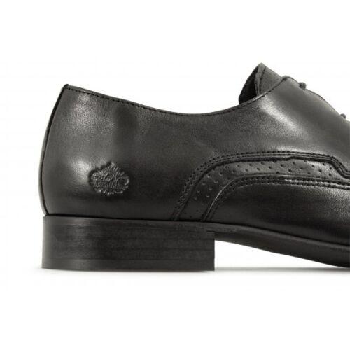 Ik3414 Retro Mens Mod Pointed Leather Jam Ikon Rock Black Shoes 60s wPqZ156