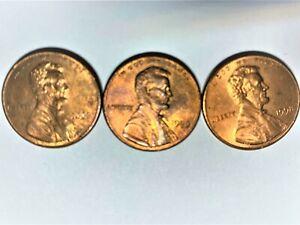 1999 Lincoln Cent Wide A_M Error includes 1998 & 2000 cents -- trio of errors!