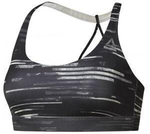 New Reebok Sports Bra Vest Top Pink Ladies Womens Running Gym Training Fitness