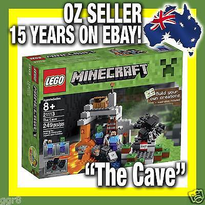 """21113 * IN STOCK NOW! LEGO MINECRAFT """"The Cave"""" RARE Mine Craft STEVE MINIFIGURE"""