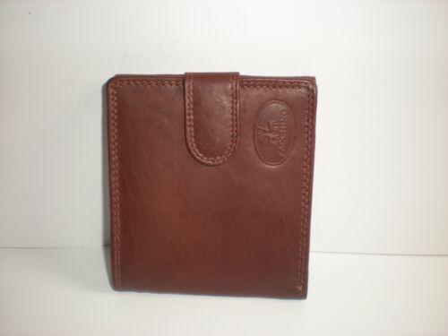 FACCHINO Cuir Véritable Bi-Fold Portefeuille Avec Grand Arrière Poche 90411