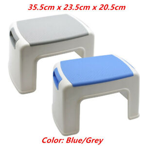 Multipurpose Single Step Stool Grey Blue Portable Ladder Chair Plastic Ebay