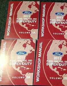 2011 ford truck f 250 f 350 f450 550 service shop repair manual set rh ebay com 2011 Ford F350 Dually 2012 Ford F350