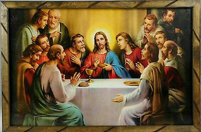 Ultima Cena La Original 37 Imagen Cuadro 24 X36 Last Supper Picture Frame Ebay