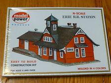 Model Power N #1501 Building Kit -- Erie Railroad Station - (Kit Form)