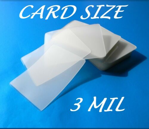 Card Size Laminating Pouches Laminator Sheets 50 pk 2-1//4 x 3-3//4 3 Mil Quality