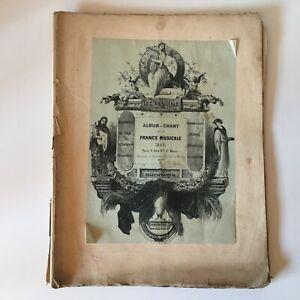 Partitura-Album-de-Canto-de-la-France-Musical-1842-De-Las-Hilo-B-Schott