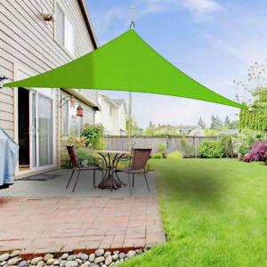 5x5x5m Sun Shade Sail Garden Awning Canopy 98 Uv Block Triangle