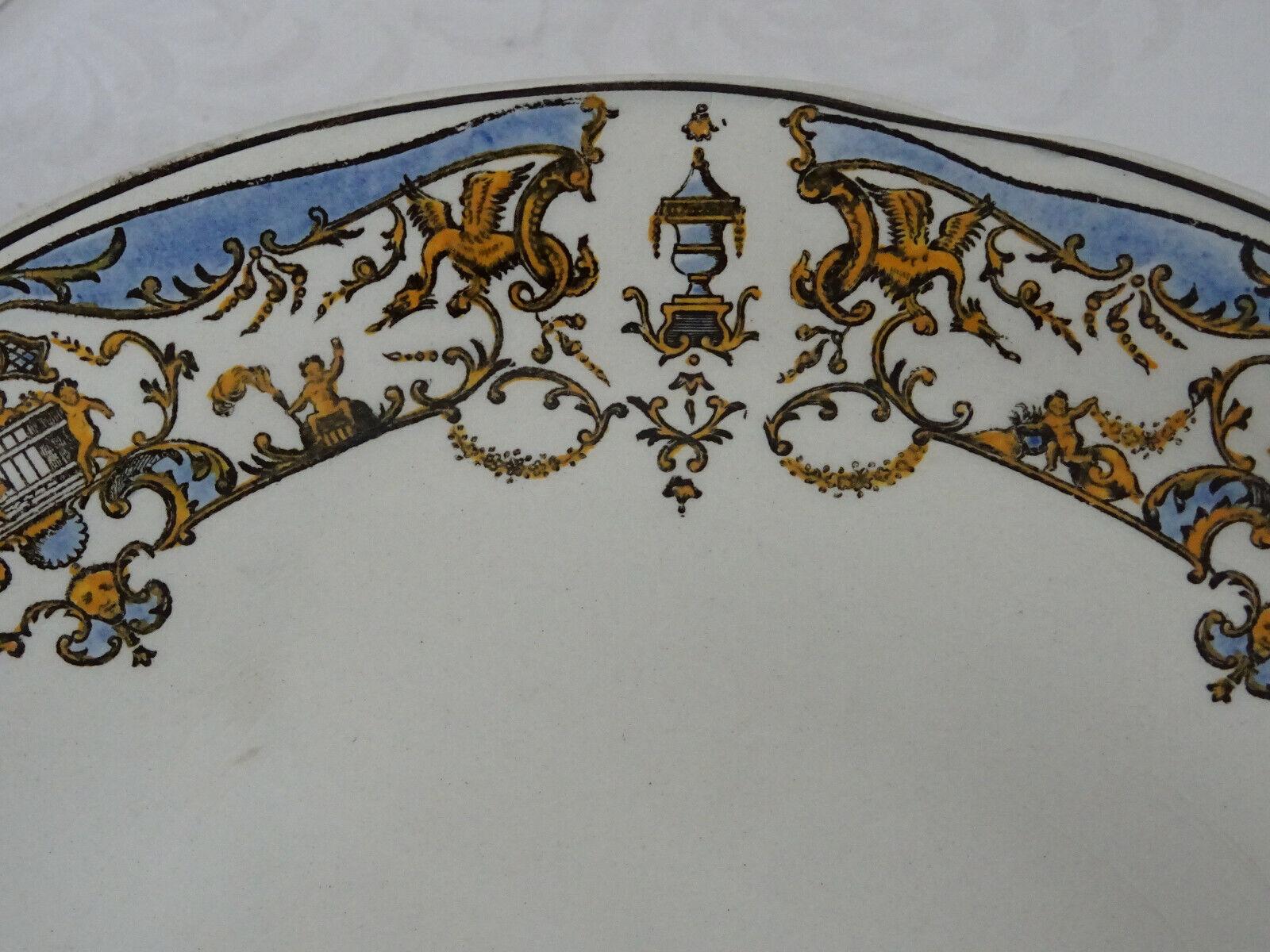 Alte Alte Alte Obstschale,Zierschale auf Fuß Gien Renaissance 522dc1