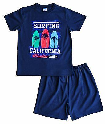 CALIFORNIA MALIBU Surf Corto Pigiama 9 a 16 ANNI Blu Navy PJ Pjs