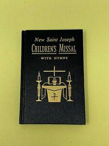 Neuf-Saint-Joseph-Enfants-Missal-et-Hymnal-Neuf-Revise-Liturgie-Noir-Livre-USA